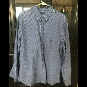 Chaps Blue & White stripe button down